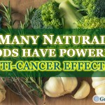 Many Natural Foods Have Powerful Anti Cancer Effects. Picture of garlic and broccoli.